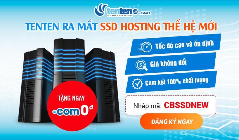 TENTEN ra mắt SSD Hosting thế hệ mới!