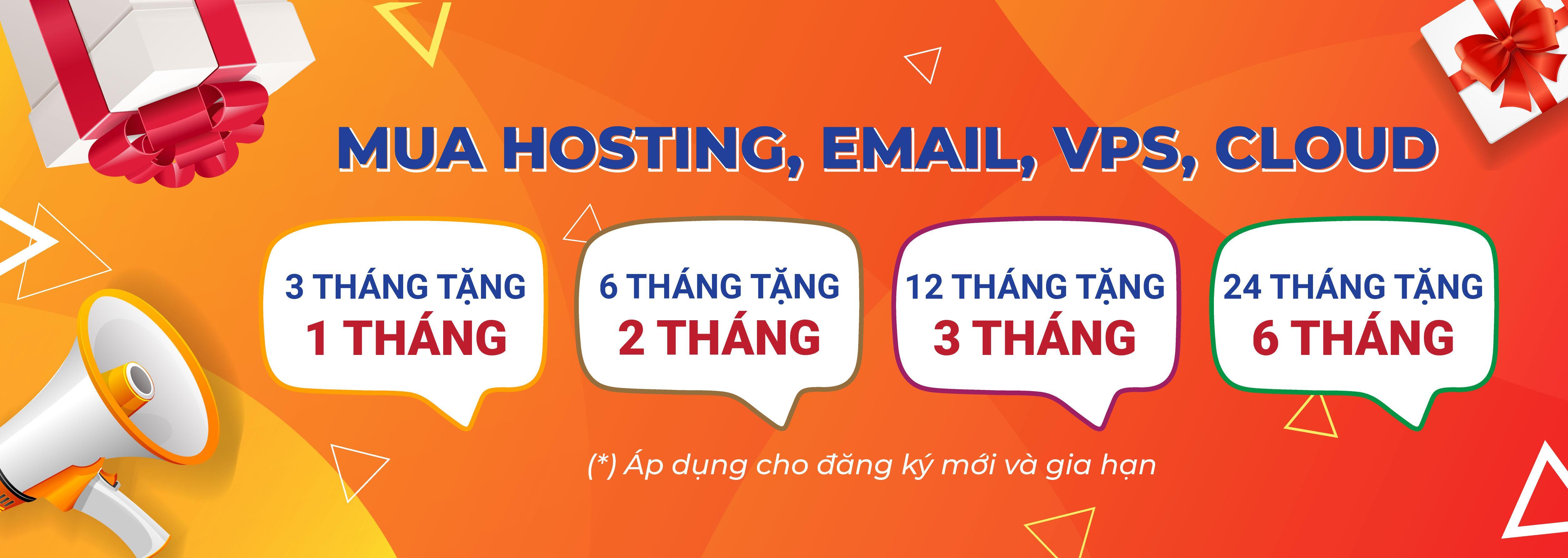 Tặng Thời Gian Sử Dụng Khi Mua Hosting – Email – VPS – Cloud tại VINAHOST
